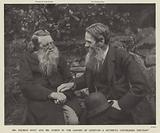 John Ruskin and Henry Holman Hunt in the garden of Coniston in the Lake District