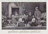 The trial of Earl Russell before his peers in the Royal Gallery of the House of Lords, Westminster