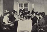 The Daily Gathering of his Female Admirers in Rasputin's Parlour