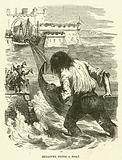 Gulliver finds a boat