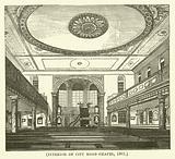 Interior of City Road Chapel, 1861