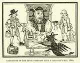 Caricature of the devil offering Laud a cardinal's hat, 1644