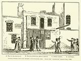Stable where the Cato Street Conspirators met, from the Observer, 5 March 1820