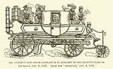 Mr Gurney's new steam-carriage as it appeared in the Regent's Park on Thursday, 6 December 1827, from the Observer, 9 …