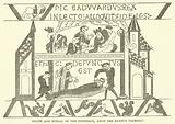 Death and burial of the Confessor, from the Bayeux Tapestry