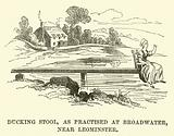 Ducking Stool, as practised at Broadwater, near Leominster