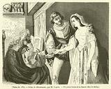 Salon de 1834, Scene de chiromancie, Un jeune baron et sa fiancee chez le devin