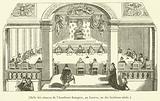 Salle des seances de l'Academie francaise, au Louvre, au dix-huitieme siecle