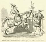 Henri II avec l'armure de tournoi sous laquelle il fut tue, Hallebardier suisse