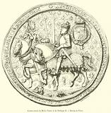 Contre-sceau de Marie Tudor et de Philippe II