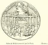 Julien de Medicis assassine par les Pazzi, Bronze