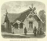 Exposition universelle de 1867, Isba, chaumiere russe