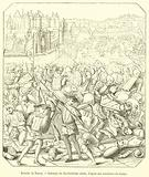 Bataille de Nancy, Estampe du dix-huitieme siecle