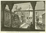 Cour du palais de la mission francaise a Teheran, 1848