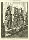 Arthur, roi d'Angleterre, Theodebert, duc de Bourgogne, Ernest, dit de Fer, duc d'Autriche, Theodoric, roi des Ostrogoths