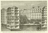 Modele de la tranche d'un boulevard de Paris, avec ses egouts et ses conduites d'eau et de gaz