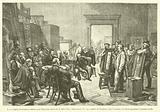 Le Jury anglais choisissant les tableaux pour l'Exposition universelle de 1878 a Paris