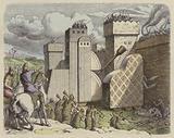 An Assyrian army besieging a city