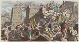 Roman soldiers storming a city
