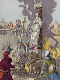 The death of Joan of Arc, Rouen, 1431