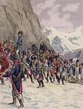 Napoleon leading his army across the Alps, 1800