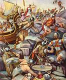 The Romans landing in Britain