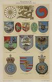 Coats of arms of Hawaii and countries of Asia and Africa