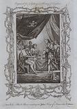 Edward the Black Prince waiting on John King of France his Prisoner