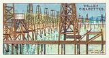 Oil field in the sea