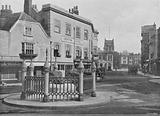 Coronation Stone and Market-Place, Kingston-on-Thames