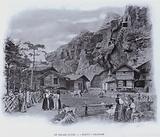 """Le Village Suisse, """"Mazots"""" Valaisans"""