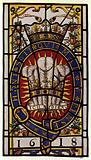 Holborn, Staple Inn, Glass Badge of Prince of Wales, 1618, 2 ft 10 1/2 in high
