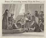 Henry 3rd extorting money from the Jews