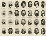 Portraits of famous Germans from Ritter vom Deutschen Geiste