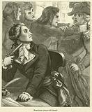 Robespierre trying to kill himself