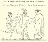 Hermes conducting the dead to Charon