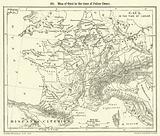 Map of Gaul in the time of Julius Caesar