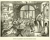 Interior of a goldsmith's shop of the sixteenth century
