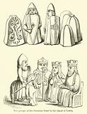 Two groups of the chessmen found in the island of Lewis