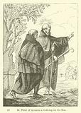 St Peter of Alcantara walking on the Sea