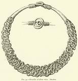 Bracelet of silver wire, Sweden