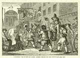 Roasting the rumps in Fleet Street, from an old print