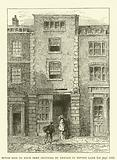 House said to have been occupied by Dryden in Fetter Lane