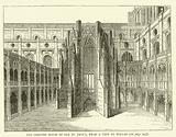 The Chapter House of old St Paul's, from a view by Hollar