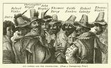 Guy Fawkes and the conspirators, from a contemporary print