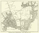 Moorfields and its neighbourhood, from a map of about 1720
