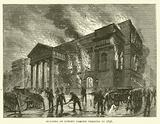 Burning of Covent Garden Theatre in 1856