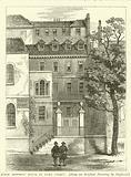 Judge Jeffreys' House in Duke Street, from an original drawing by Shepherd