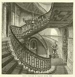 Grand staircase in Carlton House, 1820