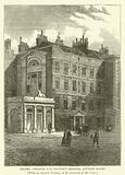 Messrs Christie and Manson's original auction rooms, from an original drawing in the possession of Mr Crace